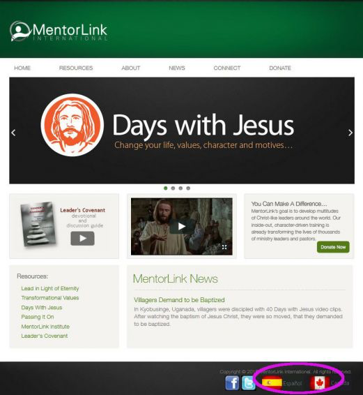 MentorLink International Website Goes Global